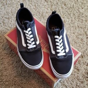 Brand New Vans Black and White slip ons
